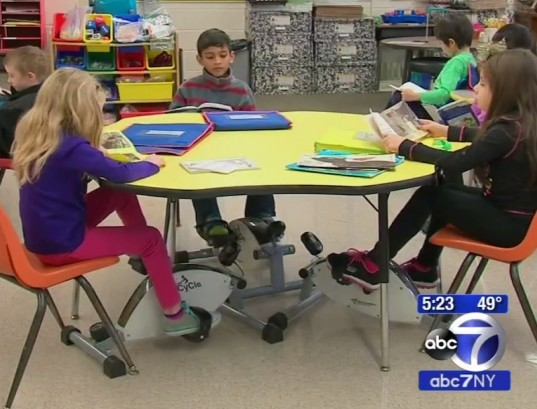 cycling desks, pedal desks, kinesthetic learning, education