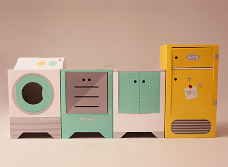 Playing house in retro style wih Eco and You\'s recyclable ...