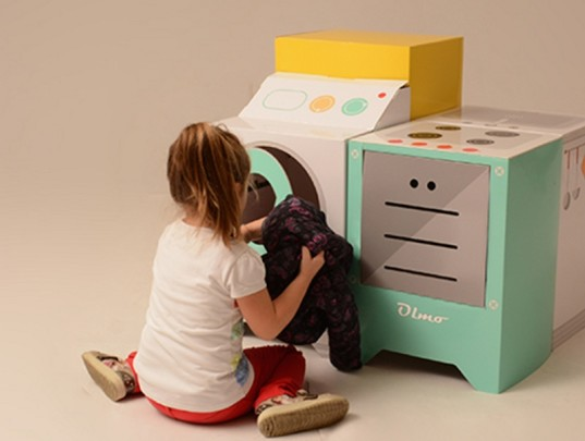 eco and you, play kitchen appliances, cardboard play kitchen, cardboard house