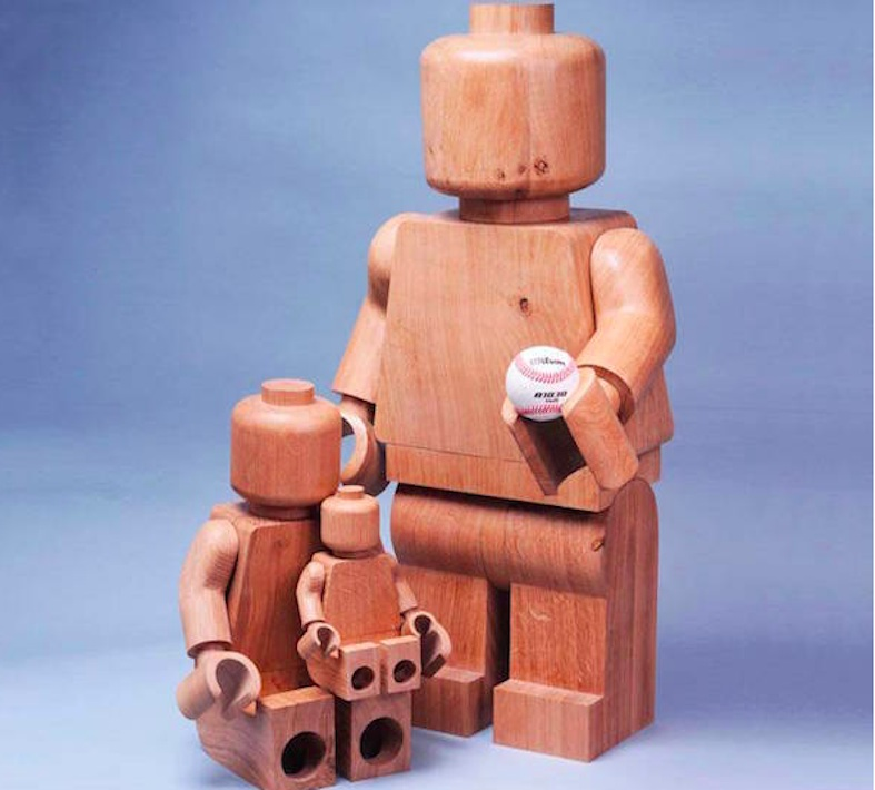 LEGO minifigures handcrafted out of oak wood are elevated ...