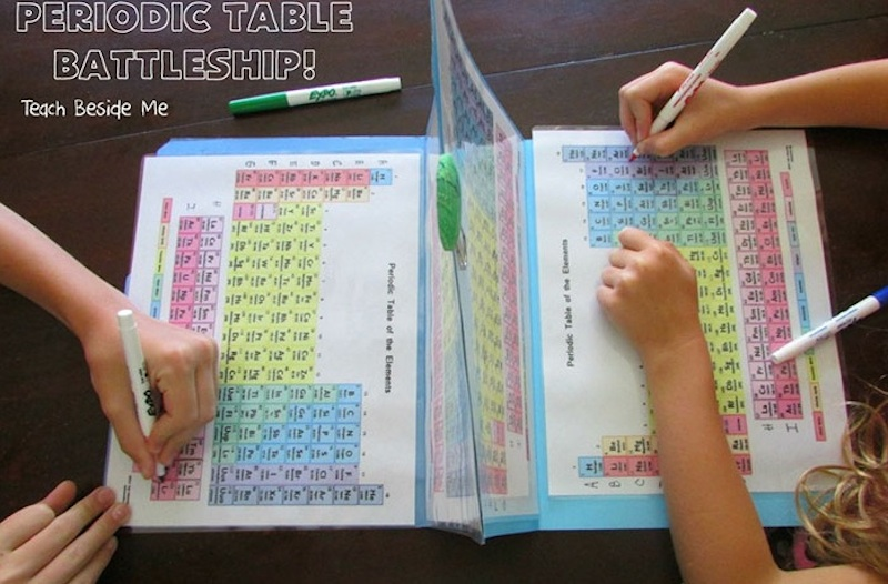 Mom helps her kids learn the elements by making periodic table education urtaz Choice Image