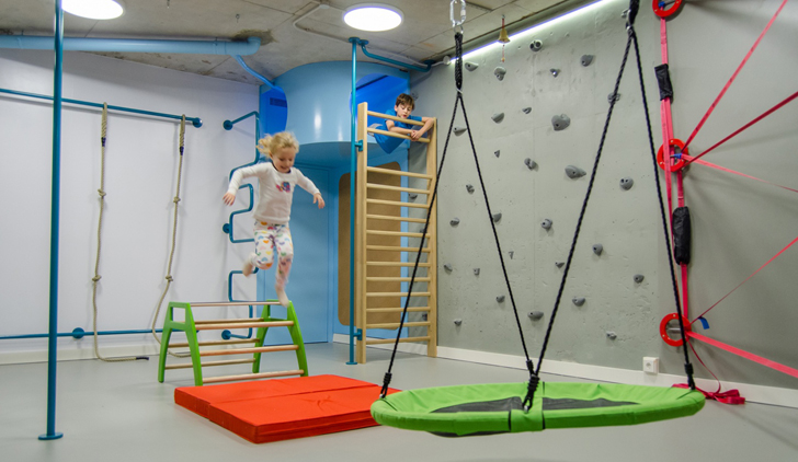 Parents install epic home climbing gym for kids designed to be