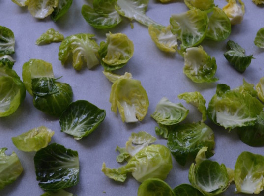 brussels sprout chips, healthy snack, snack, veggie snack
