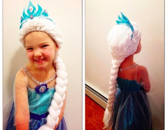 frozen, kids with cancer, wigs, kid friendly
