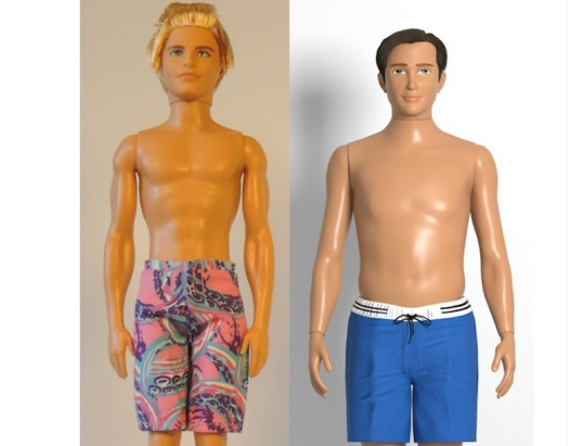 average ken, realistic ken, male barbie, average barbie