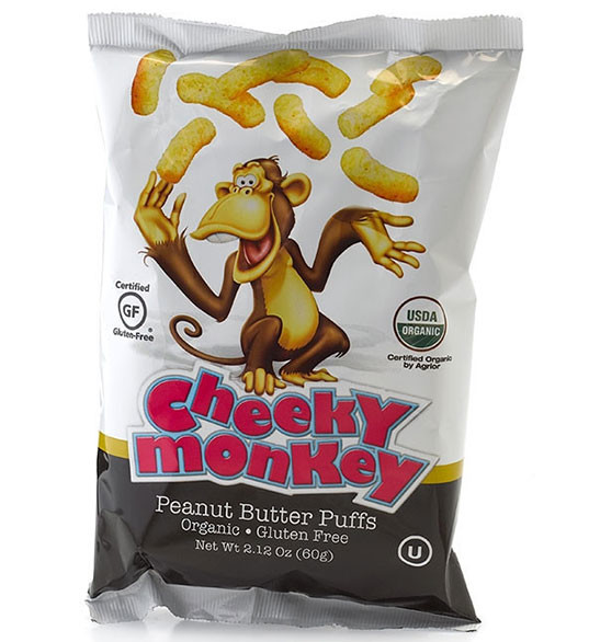cheeky monkey, peanut allergies, feeding peanuts to infants, should I feed my baby peanuts, cheeky monkey, organic peanut butter puffs, how to feed peanuts to babies,