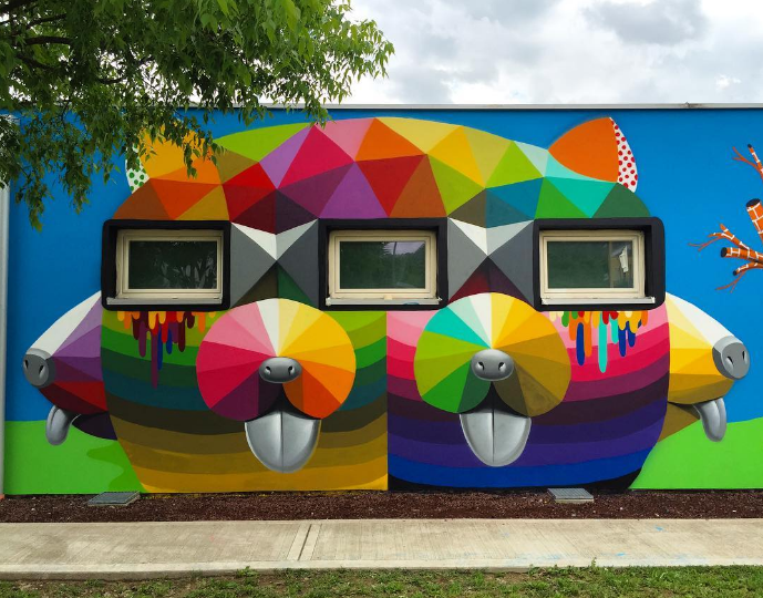 Artist Okuda San Miguel Paints Vibrant, Geometric Murals. Sports Logo. Landscape Chinese Murals. Adorable Signs Of Stroke. Tattoo Writing Lettering. Chance Signs. Sketch Signs Of Stroke. Grid Logo. School Zone Signs Of Stroke