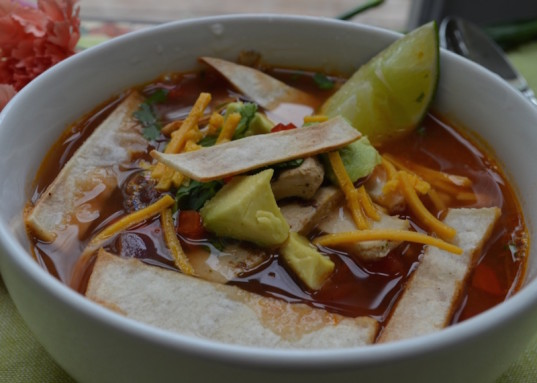 healthy tortilla soup, vegan soup, vegan recipe, vegan holiday recipe