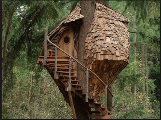 treehouse, houses, small houses, fairy houses