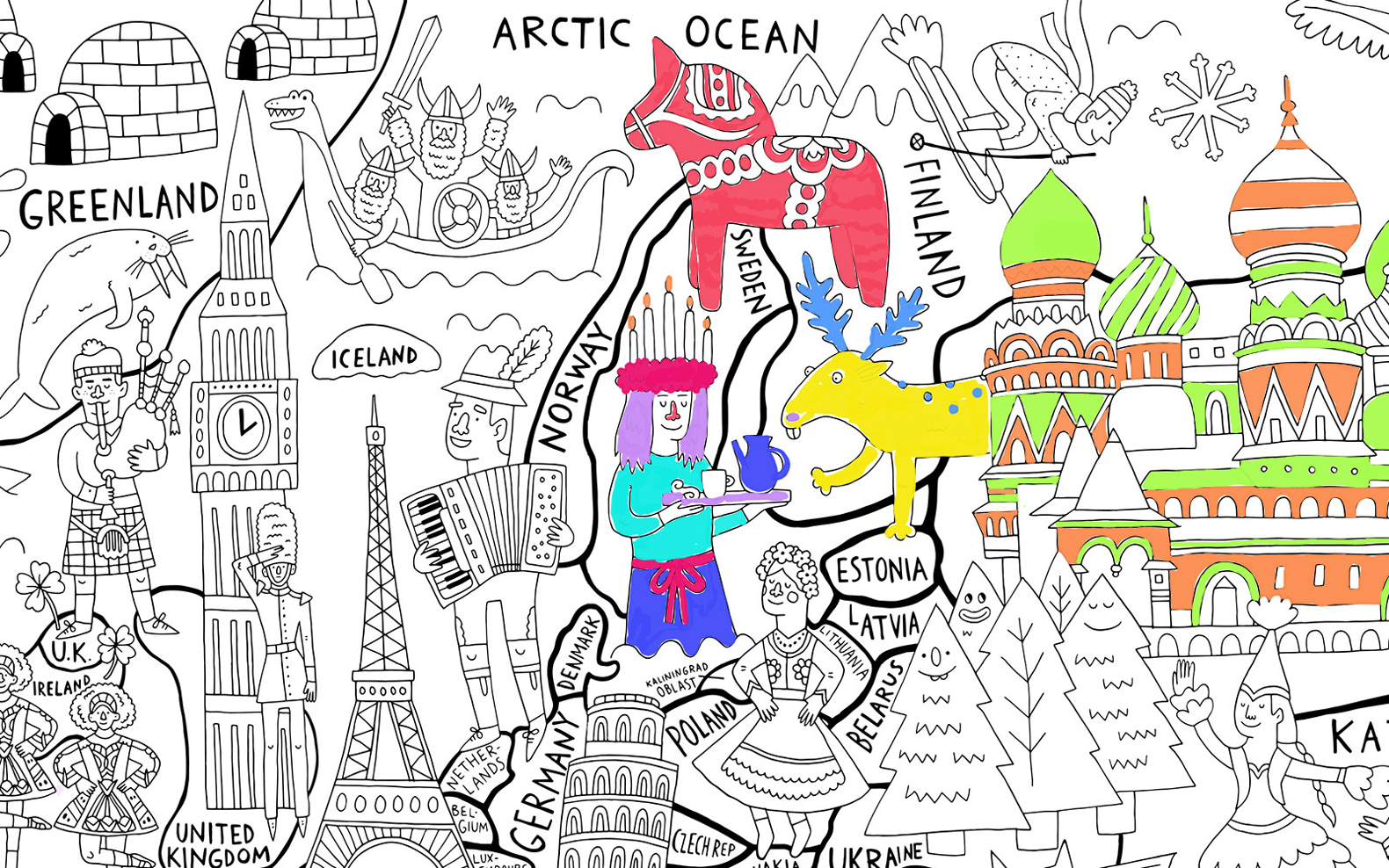 what a colorful world really big coloring poster is the perfect