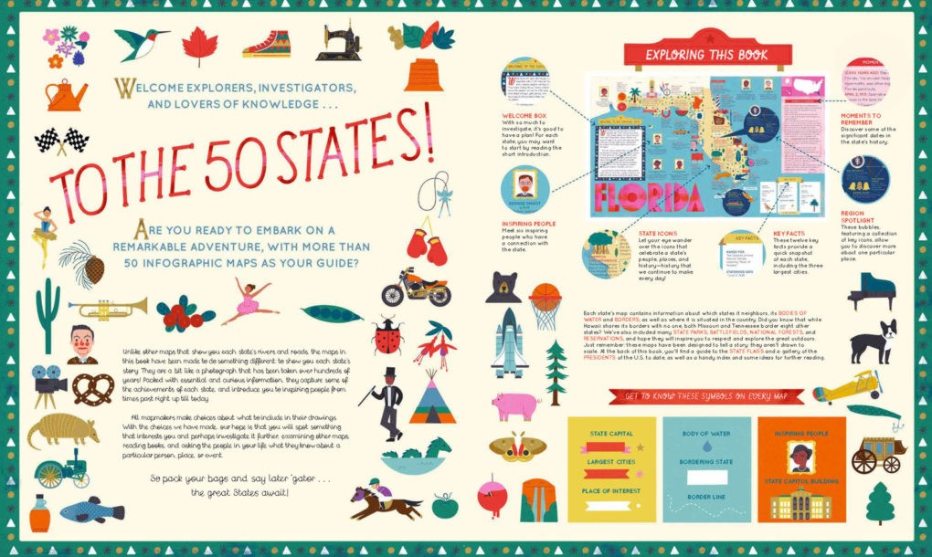 Book Review The 50 States Beautifully Maps Out A Charming Lesson In