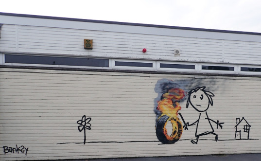 green design, eco design, sustainable design, Banksy, Joe Kay, Bridge Farm School Bristol