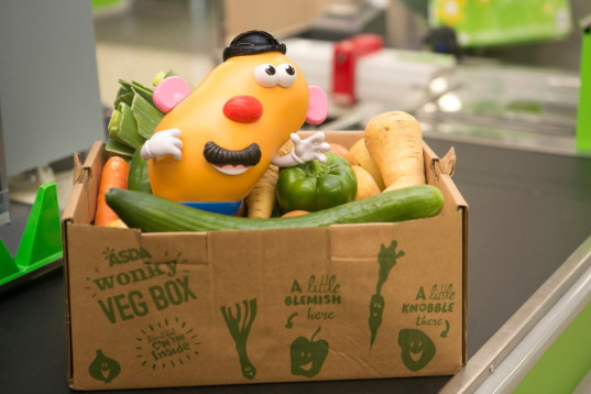 wonky mr potato head, asda, hasbro, food waste, ugly produce, blemished produce, reducing food waste, encouraging kids to eat vegetables, vegetables, nutrition, grocery stores, grocery shopping