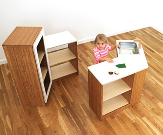 play kitchen, greenguard certified, bamboo play kitchen, birch play kitchen, play kitchens, role playing, free play, north forty design