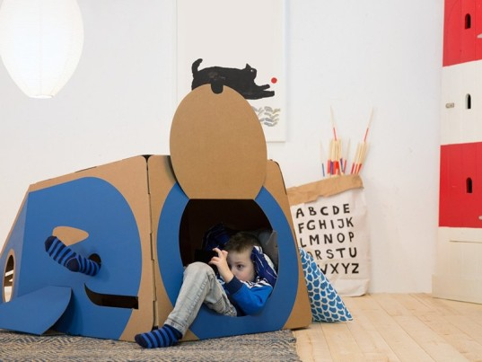 Hulki, Cardboard playhouse, whale playhouse, animal playhouse, eco-friendly playhouse, creative playhouse, owl playhouse,