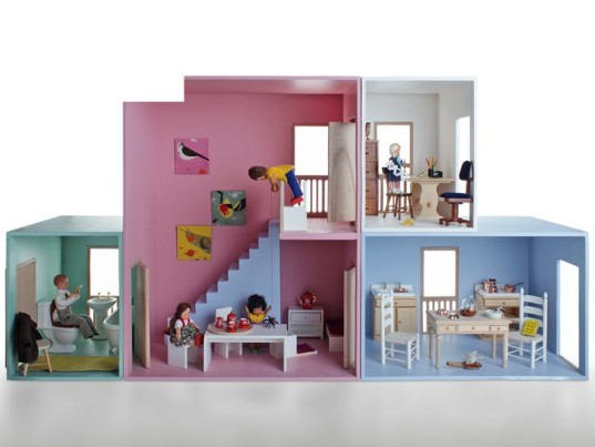 haseweiss, haseweiss dollhouses, modern dollhouse, eco-friendly dollhouse, colorful dollhouse, modular dollhouse, dollhouse barn