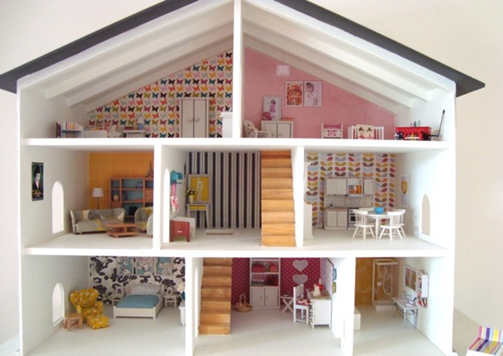 Diy dollhouse upcycled thrift store dollhouse inhabitots - Incredible swedish home design ideas that can make you drooling ...