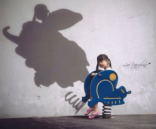 kelly tan, photography, children, inspiring, shadow pictures, child's shadow, I have a dream, Kelly tan photographer, children's photographer, imaginative photo series