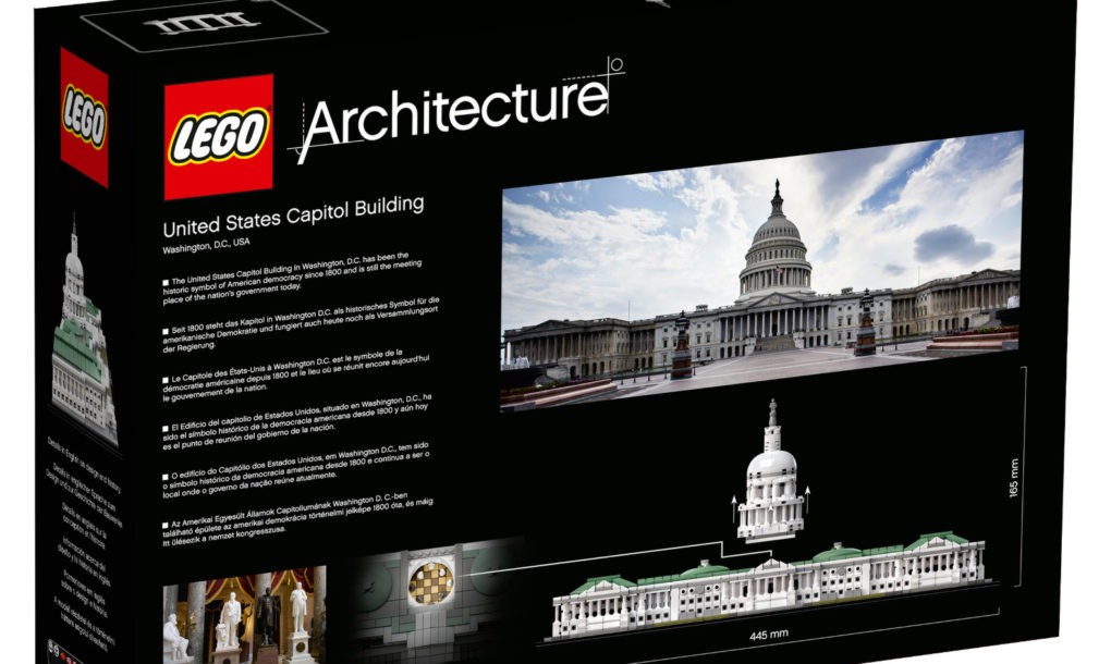 LEGO Architecture 21030 US Capitol box back | Inhabitots