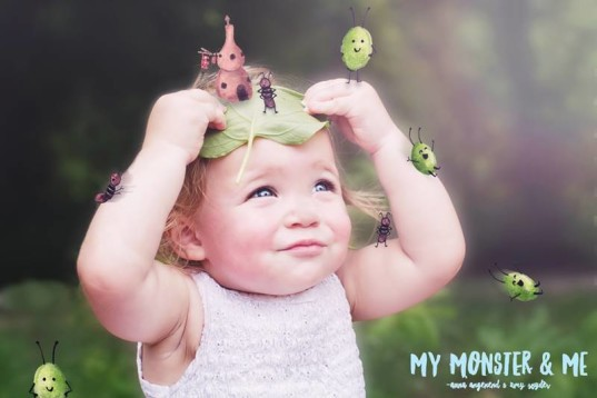 Amy Snyder, unique child photography, custom child photography, Anna Angenend , monsters and kids, my monster and me, imaginary friends,