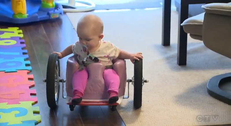 Parents Build Their Baby An Ingenious Wheelchair After She