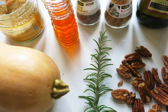 HOW TO Make, roasted butternut squash, roasted pecans, rosemary flavor