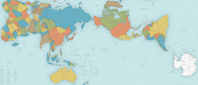 New more accurate world map wins prestigious design award in japan news gumiabroncs Gallery