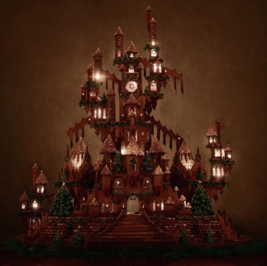 gingerbread castle, gingerbread house, Christine McConnell, art