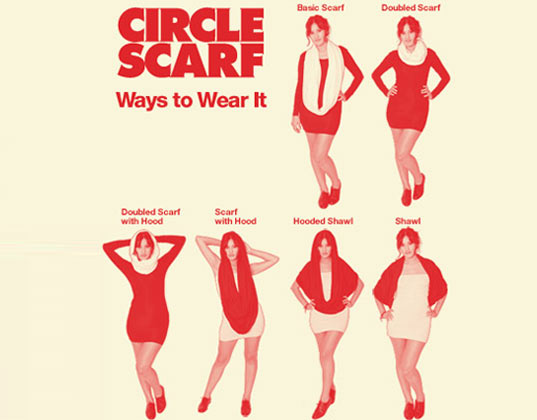 Looks - Apparel american circle scarf how to wear video