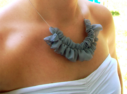 DIY Ruffle Necklace by Happy Together