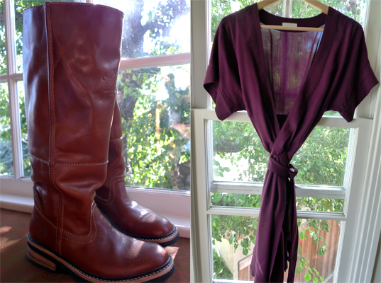 Greenbees boots and ecoSkin dress
