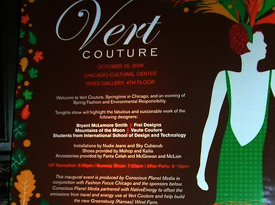 Behind-the-scenes at Vert Couture 2009