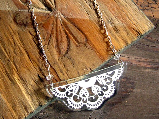 Bayeux Lace Necklace by Fox and Clover