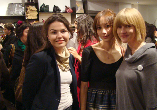 emma of treehugger, diane and jill, ecouterre launch party, eco fashion, green fashion, greenparty, kaight