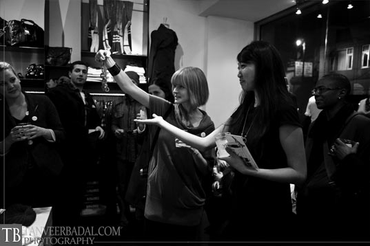 jill-gets-ready-to-give-away-the-circle-cascade-necklace!, ecouterre launch party, eco fashion, green fashion, greenparty, kaight