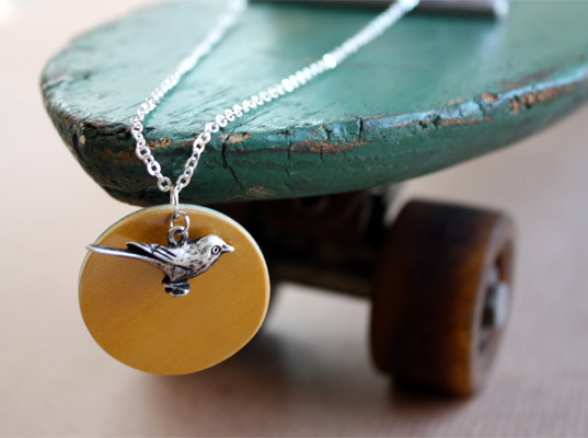 Skateboard necklace by Seven Ply