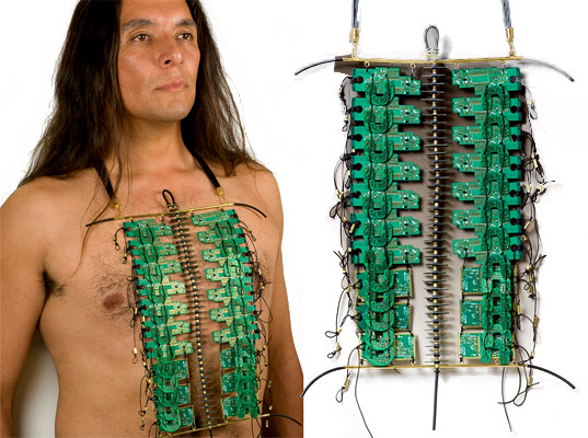 Circuit Board Breastplate by Christine Dhein