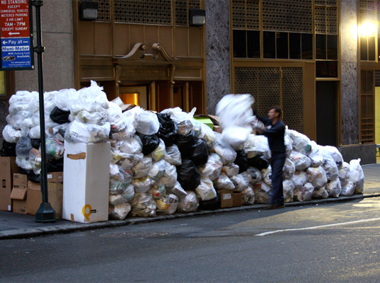 Garbage in NYC