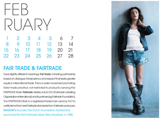 Made-By Jargon Buster calendar, eco-fashion news, Pure London, Pure Womenswear Tradeshow, Made-By, Jargon Buster, fashion calendar, fashion vocabulary, green vocabulary, eco-fashion, sustainable fashion