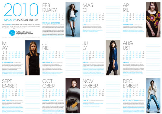 Made By Defines Eco Fashion Terms With New Jargon Buster Calendar