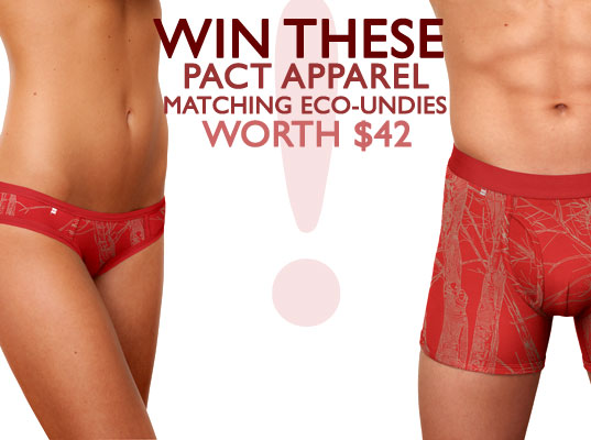 Pact Organic Undies Giveaway, green undies, organic undies, pact, yves behar, eco undies, eco underwear, sustainable skivvies