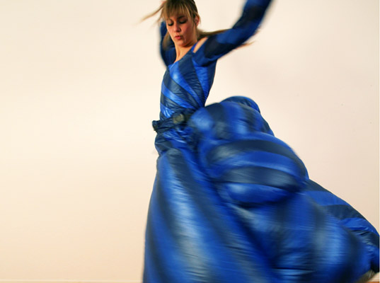interactive weather dresses, valerie lamontagne, dresses made of the sky moon sun, wearable technology, Peau d'Ane