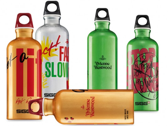 Vivienne Westwood, SIGG, Spring/Summer 2011, reusable bottles, eco-fashion, sustainable fashion, green fashion, sustainable style, ethical fashion