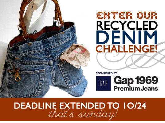 32329fdd423 Enter Our Recycled Denim Challenge (Deadline Extended to Sunday!)