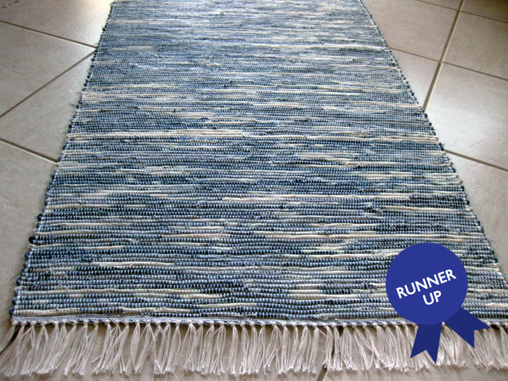 Recycled Denim Rug Ecouterre