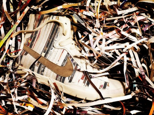 Nike, recycled shoes, upcycled shoes, recycled sneakers, upcycled sneakers, eco-friendly shoes, sustainable shoes, eco-friendly sneakers, sustainable sneakers, eco-fashion, sustainable fashion, green fashion, ethical fashion, sustainable style, recycled magazines