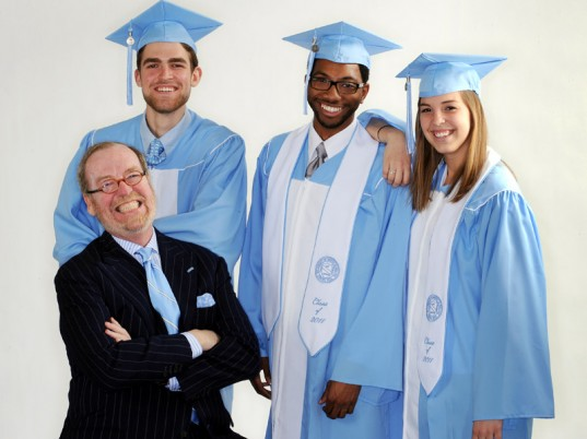 Alexander Julian, University of North Carolina at Chapel Hill, recycled PET, recycled plastic bottles, recycled polyester, graduation gowns, eco-fashion, sustainable fashion, green fashion, ethical fashion, sustainable style