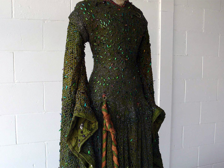 Victorian-Era Dress, Made With 1,000 Beetle Wings, Restored for ...