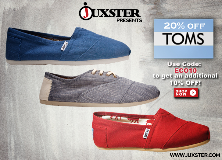 Extra 10 Off Toms Shoes For Ecouterre Readers