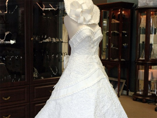 The Latest It Wedding Dress is Made of Toilet Paper Yes Really